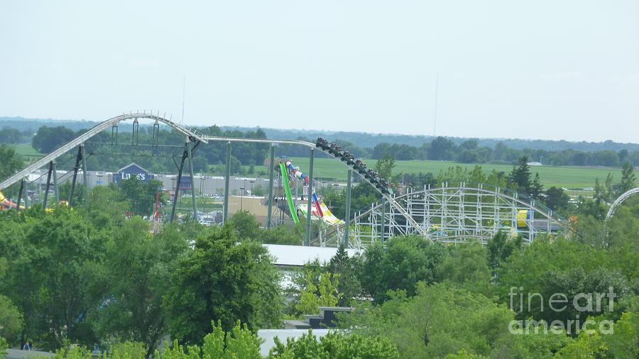 Iowa Photograph - Roller Coaster Skyline by Kelly Schwartz