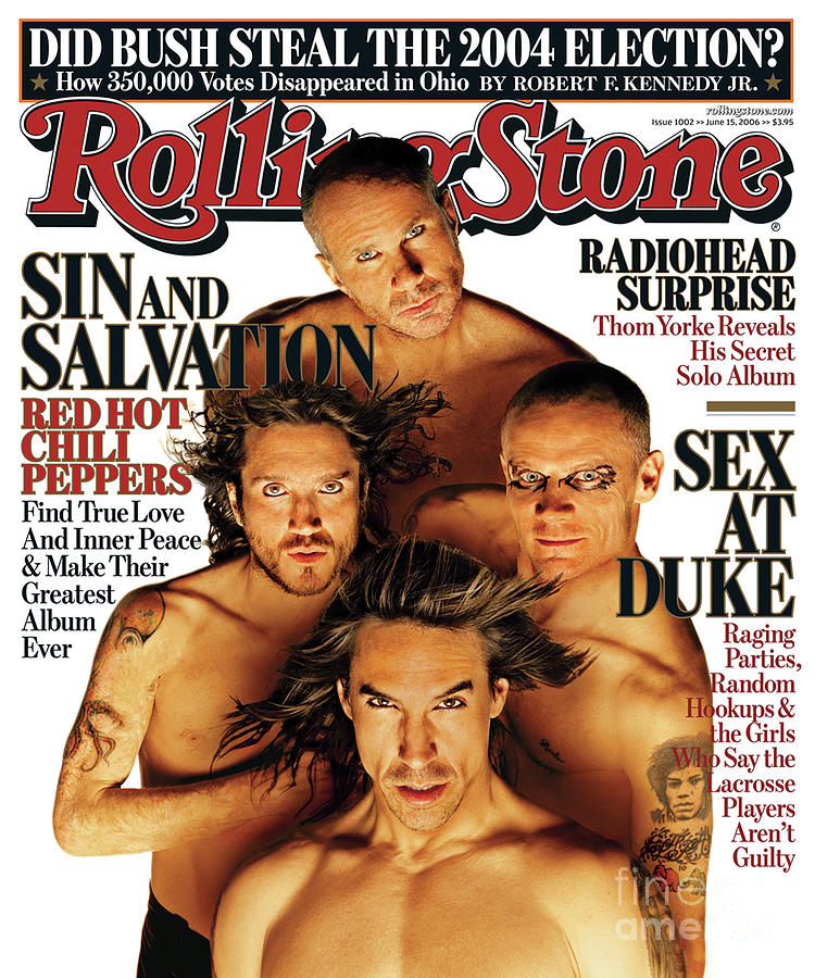 Red Hot Chili Peppers Photograph - Rolling Stone Cover - Volume #1002 - 6/15/2006 - Red Hot Chili Peppers by Matthew Rolston