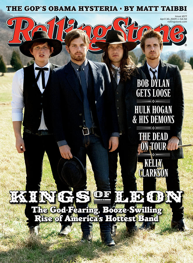 Kings Of Leon Photograph - Rolling Stone Cover - Volume #1077 - 4/30/2009 - Kings Of Leon by Max Vadukul