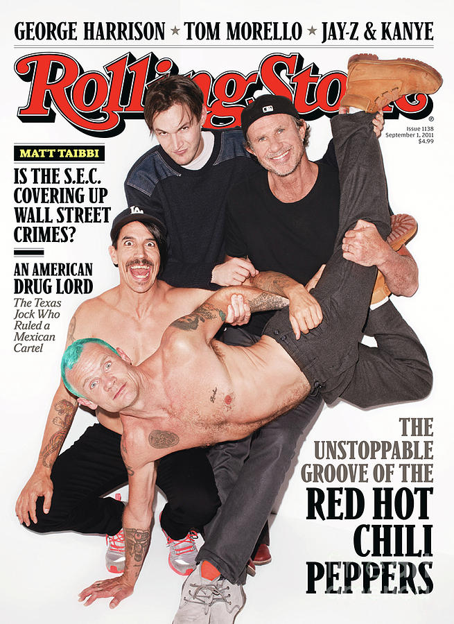Red Hot Chili Peppers Photograph - Rolling Stone Cover - Volume #1138 - 9/1/2011 - Red Hot Chili Peppers by Terry Richardson