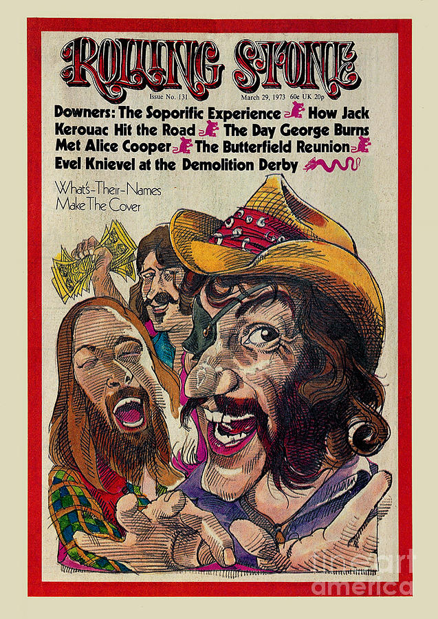 Rolling Stone Photograph - Rolling Stone Cover - Volume #131 - 3/29/1973 - Dr. Hook And The Medicine Show by Gerry Gersten