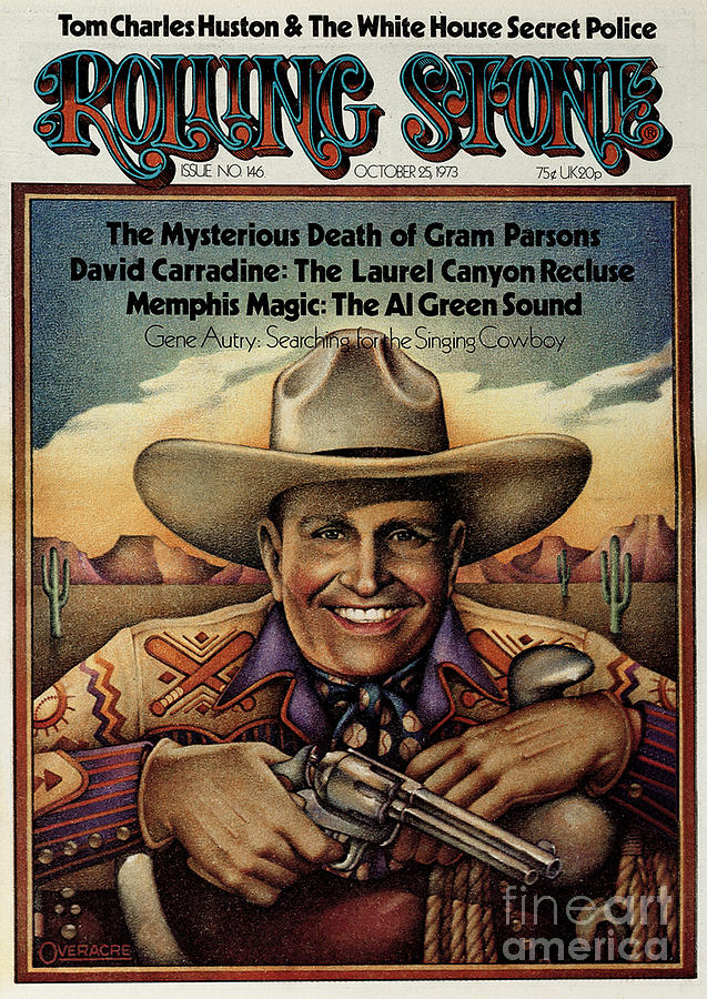Gene Autry Photograph - Rolling Stone Cover - Volume #146 - 10/25/1973 - Gene Autry by Gary Overacre