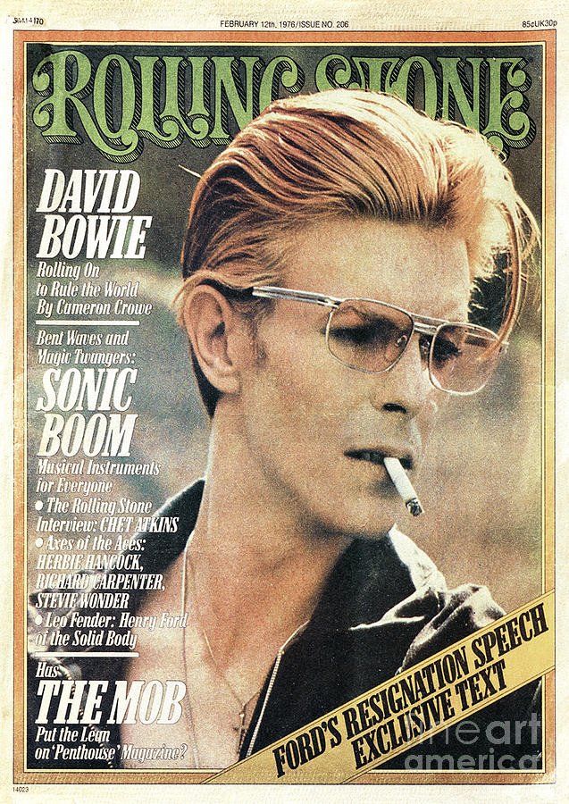 David Bowie Photograph - Rolling Stone Cover - Volume #206 - 2/12/1976 - David Bowie by Steve Schapiro