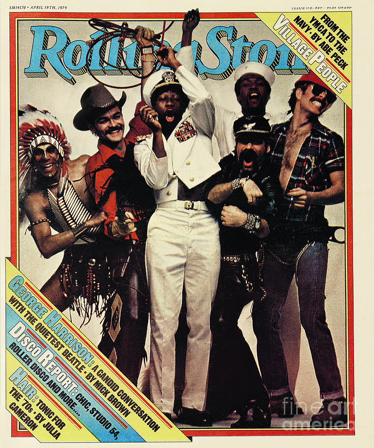 The Village People Photograph - Rolling Stone Cover - Volume #289 - 4/19/1979 - The Village People by Bill King