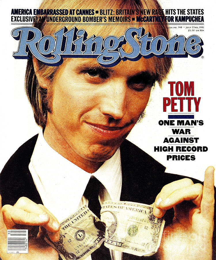 Tom Petty Photograph - Rolling Stone Cover - Volume #348 - 7/23/1981 - Tom Petty by Aaron Rapoport