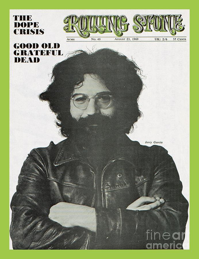 Jerry Garcia Photograph - Rolling Stone Cover - Volume #40 - 8/23/1969 - Jerry Garcia by Baron Wolman