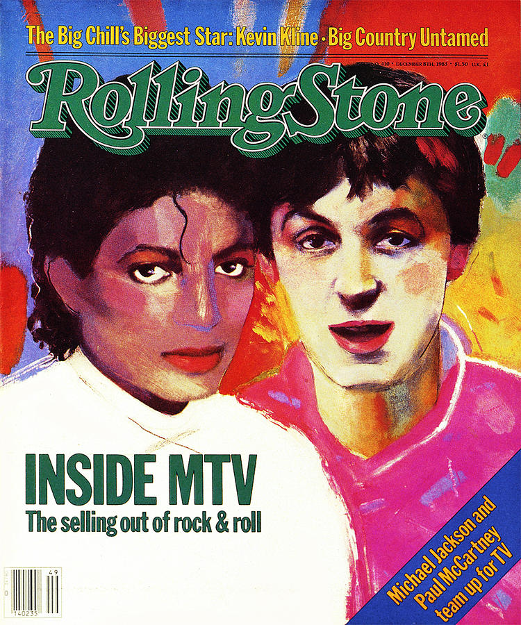 Rolling Stone Photograph - Rolling Stone Cover - Volume #410 - 12/8/1983 - Michael Jackson And Paul Mccartney by Vivienne Fleisher