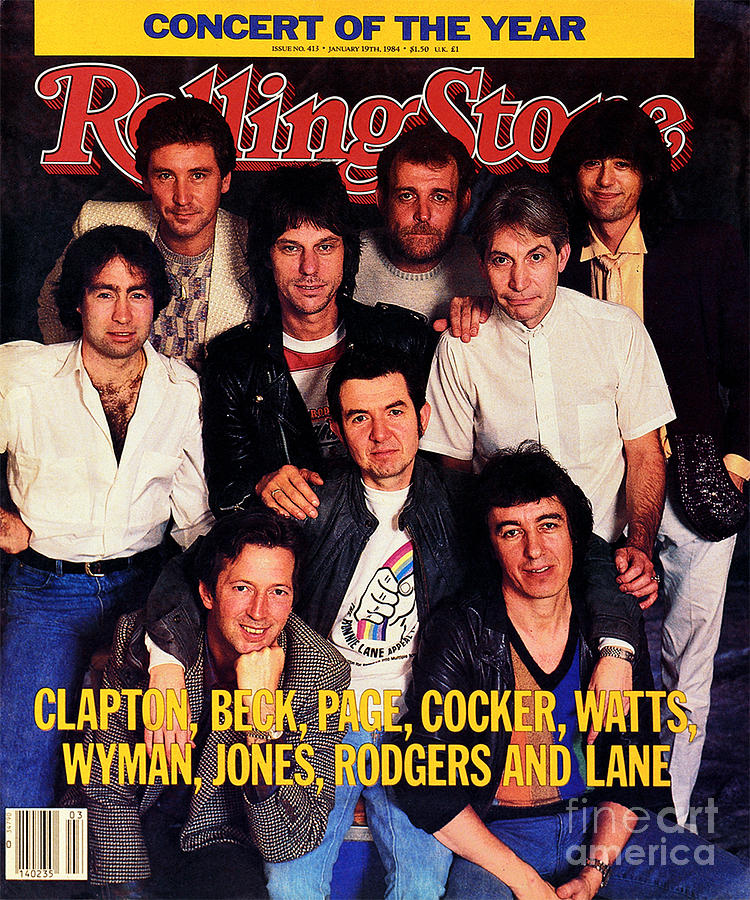 Rolling Stone Photograph - Rolling Stone Cover - Volume #413 - 1/19/1984 - Arms Concert by Bonnie Schiffman