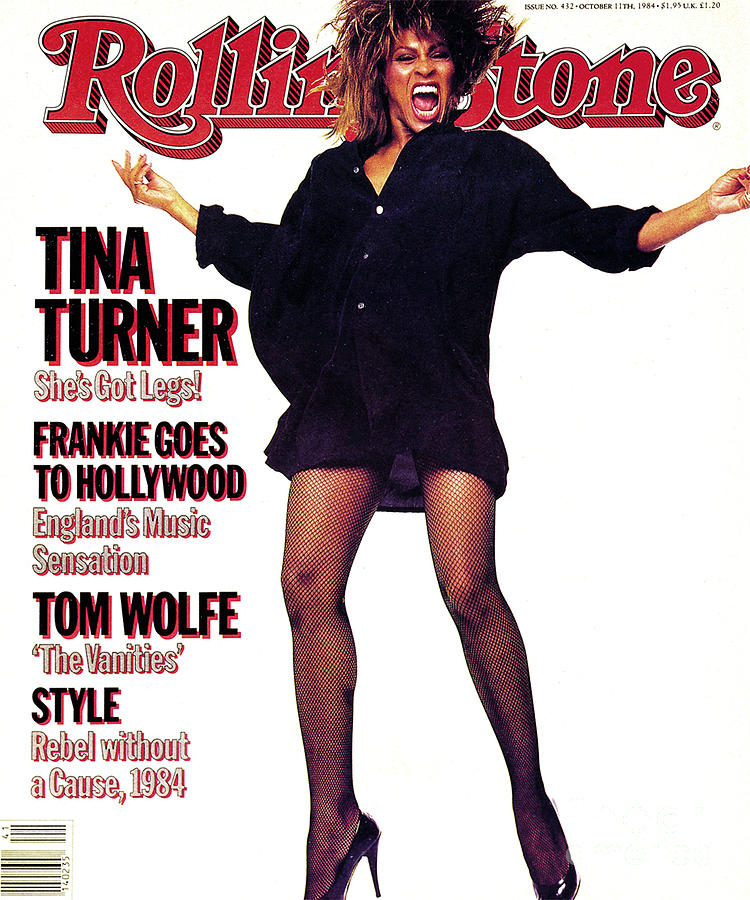 Tina Turner Photograph - Rolling Stone Cover - Volume #432 - 10/11/1984 - Tina Turner by Steve Meisel