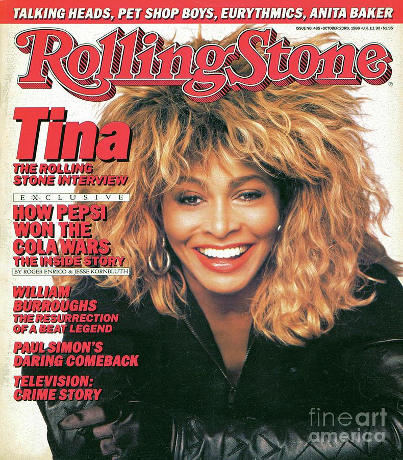 Tina Turner Photograph - Rolling Stone Cover - Volume #485 - 10/23/1986 - Tina Turner by Matthew Rolston