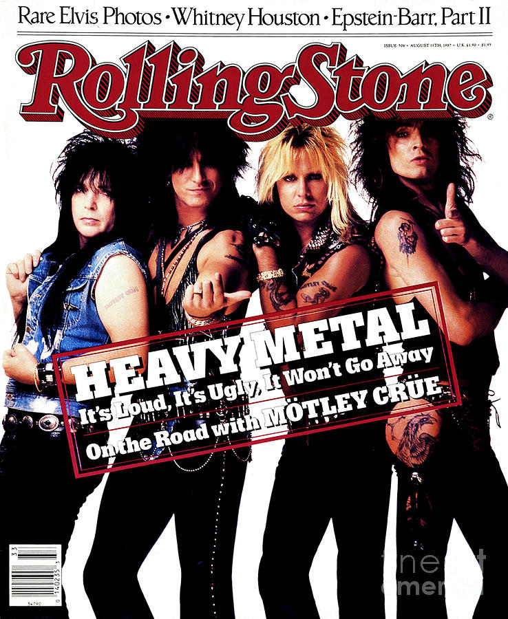 Motley Crue Photograph - Rolling Stone Cover - Volume #506 - 8/13/1987 - Motley Crue by E.J. Camp