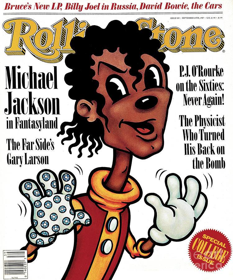 Michael Jackson Photograph - Rolling Stone Cover - Volume #509 - 9/24/1987 - Michael Jackson by Anita Kunz
