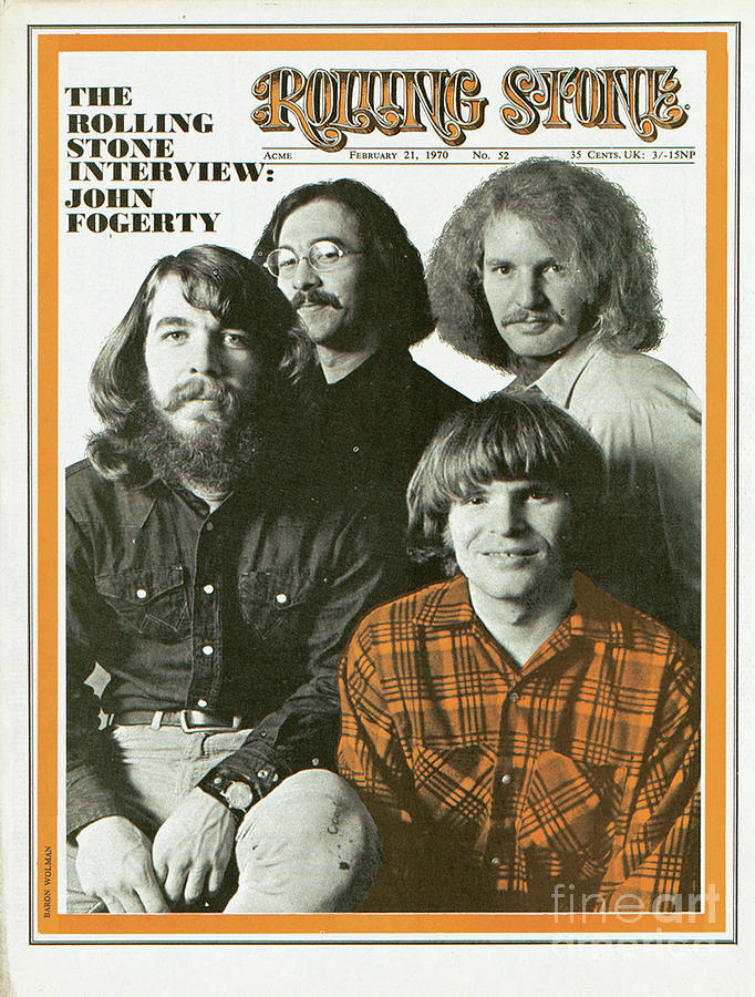 Creedence Clearwater Revival Photograph - Rolling Stone Cover - Volume #52 - 2/21/1970 - Creedence Clearwater Revival by Baron Wolman