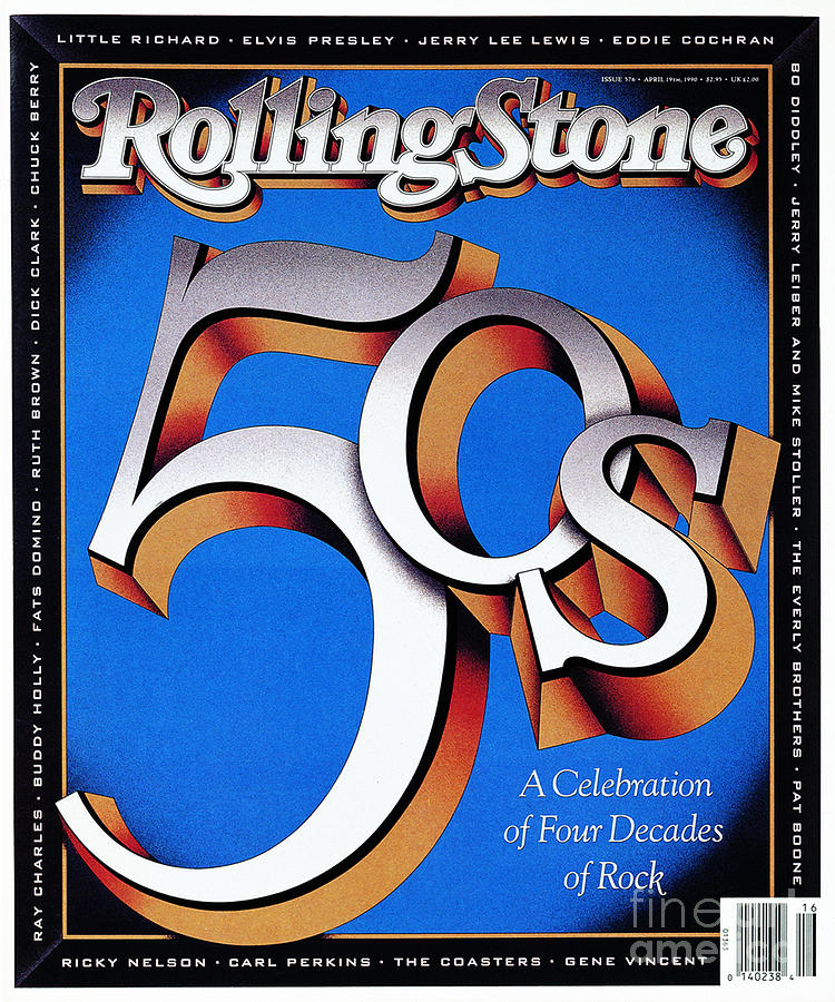 Rolling Stone Photograph - Rolling Stone Cover - Volume #576 - 4/19/1990 - The 50s by Terry Allen