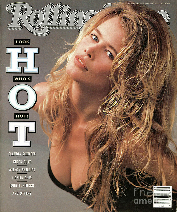 Claudia Schiffer Photograph - Rolling Stone Cover - Volume #578 - 5/17/1990 - Claudia Schiffer by Herb Ritts