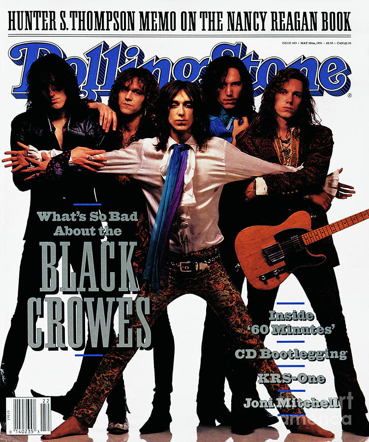 Black Crowes Photograph - Rolling Stone Cover - Volume #605 - 5/30/1991 - Black Crowes by Mark Seliger