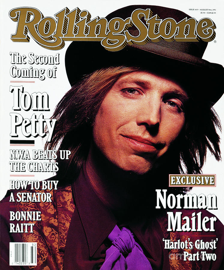 Tom Petty Photograph - Rolling Stone Cover - Volume #610 - 8/8/1991 - Tom Petty by Mark Seliger