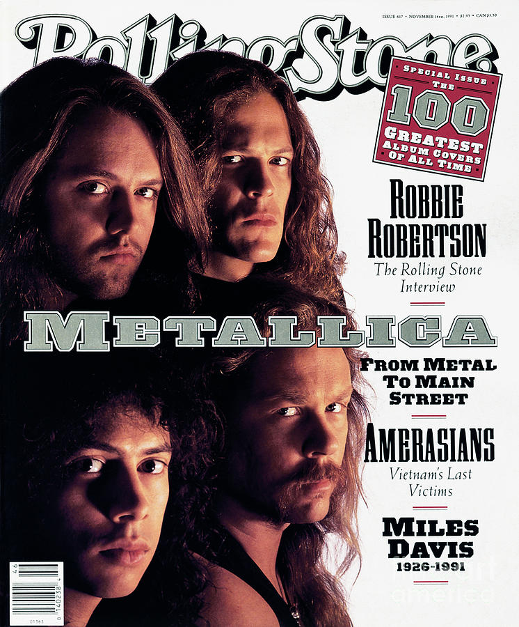 Metallica Photograph - Rolling Stone Cover - Volume #617 - 11/14/1991 - Metallica by Mark Seliger