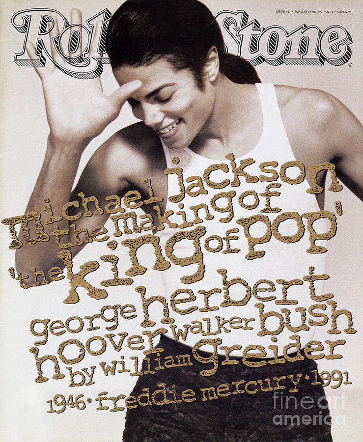 Michael Jackson Photograph - Rolling Stone Cover - Volume #621 - 1/9/1992 - Michael Jackson by Herb Ritts