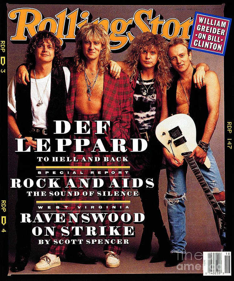 Def Leppard Photograph - Rolling Stone Cover - Volume #629 - 4/30/1992 - Def Leppard by Mark Seliger