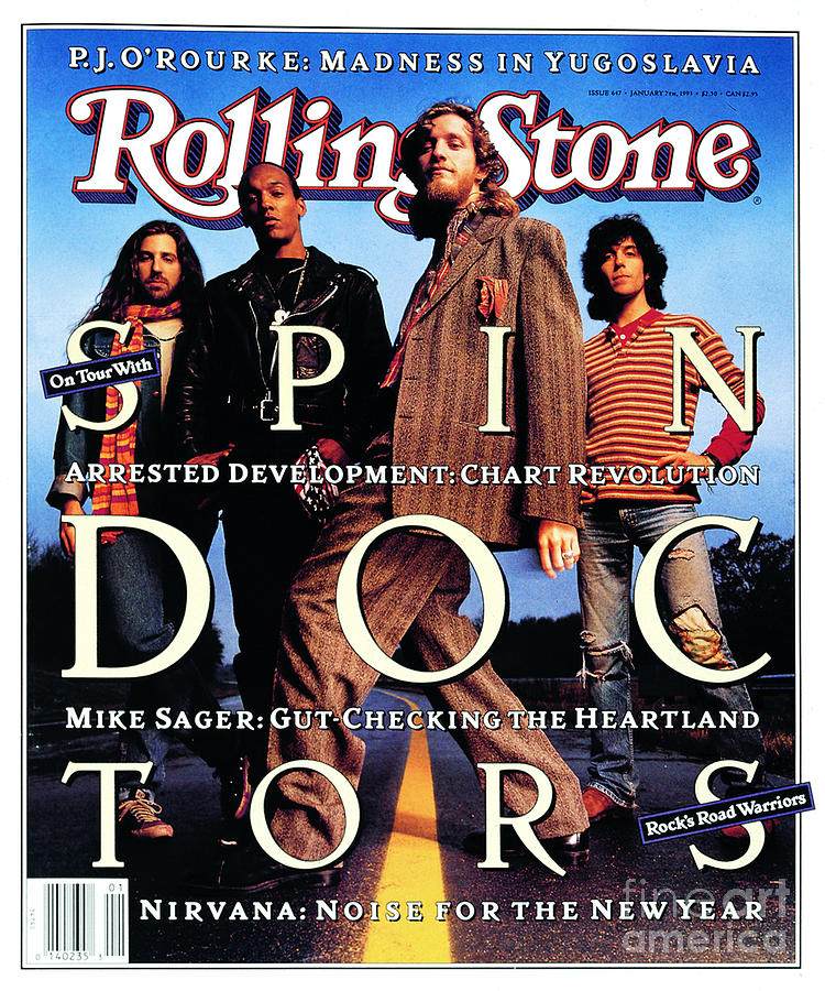 Spin Doctors Photograph - Rolling Stone Cover - Volume #647 - 1/7/1993 - Spin Doctors by Mark Seliger