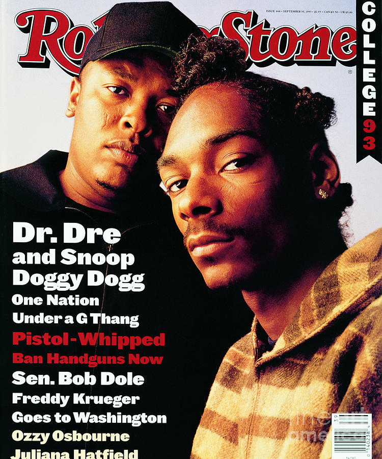 Rolling Stone Photograph - Rolling Stone Cover - Volume #666 - 9/30/1993 - Dr. Dre And Snoop Doggy Dog by Mark Seliger