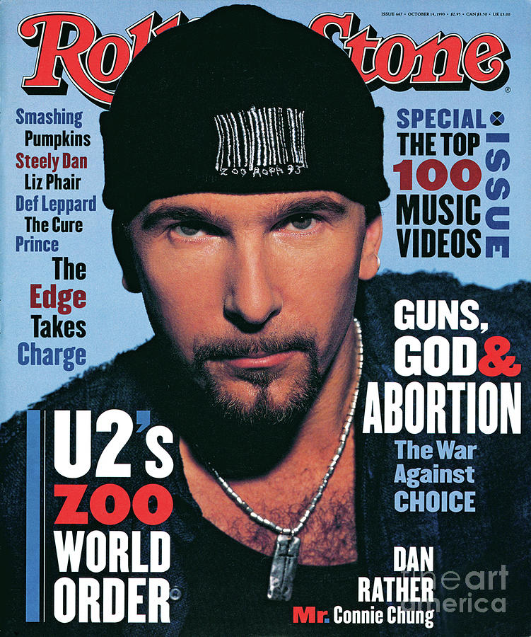 The Edge Photograph - Rolling Stone Cover - Volume #667 - 10/14/1993 - The Edge by Andrew MacPherson