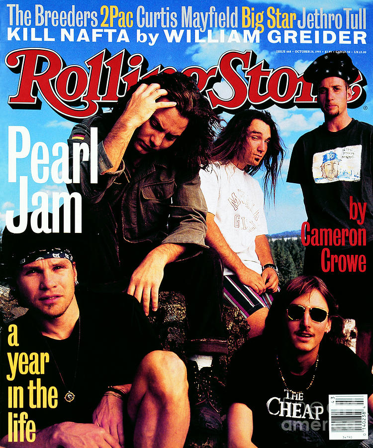 Pearl Jam Photograph - Rolling Stone Cover - Volume #668 - 10/28/1993 - Pearl Jam by Mark Seliger