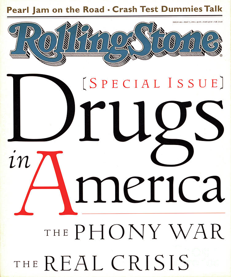Rolling Stone Photograph - Rolling Stone Cover - Volume #681 - 5/5/1994 - Drugs In America by I.P. Daley