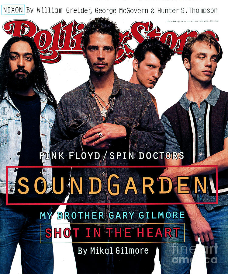 Soundgarden Photograph - Rolling Stone Cover - Volume #684 - 6/16/1994 - Soundgarden by Mark Seliger