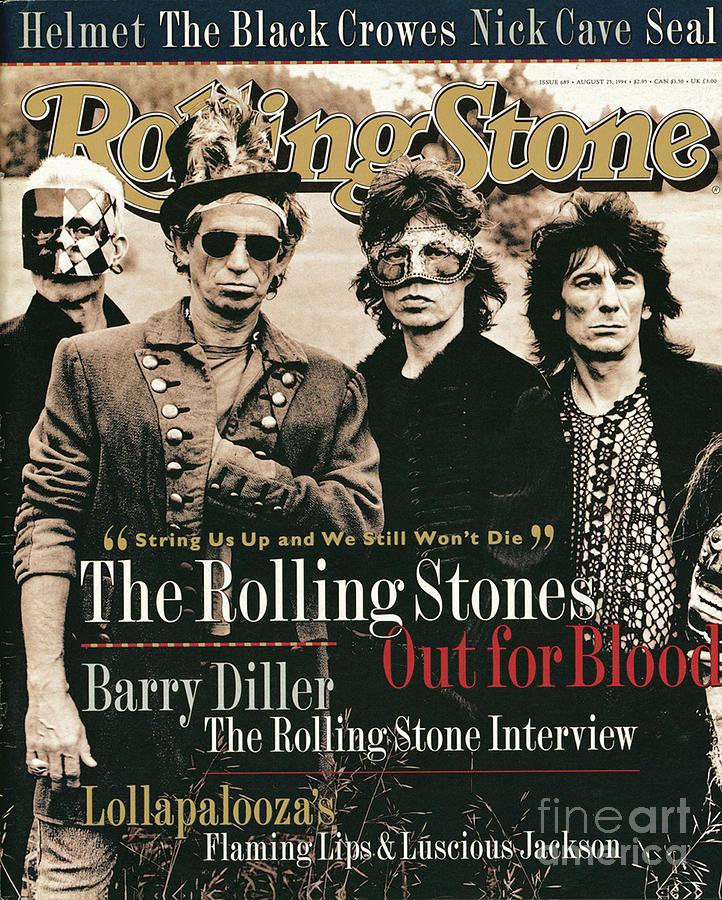 Rolling Stones Photograph - Rolling Stone Cover - Volume #689 - 8/25/1994 - Rolling Stones by Anton Corbijn
