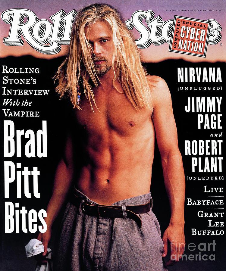 Brad Pitt Photograph - Rolling Stone Cover - Volume #696 - 12/1/1994 - Brad Pitt by Mark Seliger