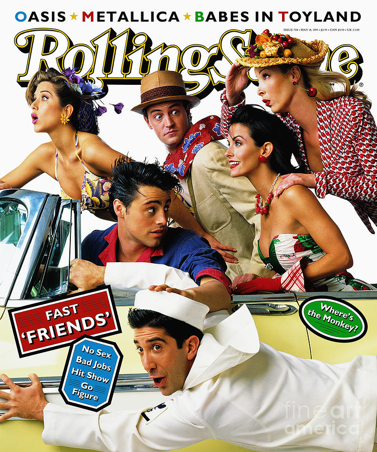 Rolling Stone Photograph - Rolling Stone Cover - Volume #708 - 5/18/1995 - Cast Of Friends by Mark Seliger