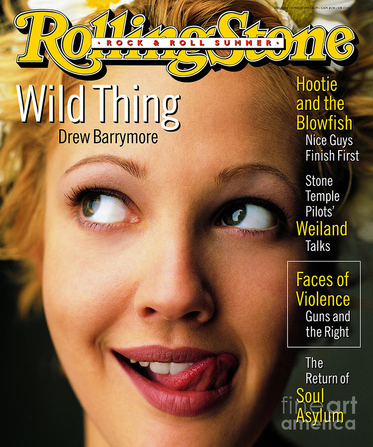 Drew Barrymore Photograph - Rolling Stone Cover - Volume #710 - 6/15/1995 - Drew Barrymore by Mark Seliger