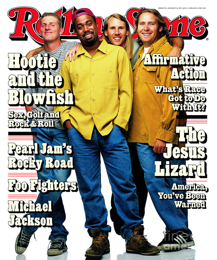 Hootie And The Blowfish Photograph - Rolling Stone Cover - Volume #714 - 8/10/1995 - Hootie And The Blowfish by Mark Seliger