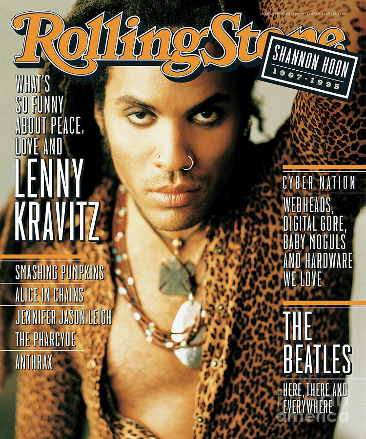 Lenny Kravitz Photograph - Rolling Stone Cover - Volume #722 - 11/30/1995 - Lenny Kravitz by Matthew Rolston
