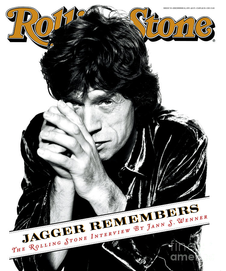 Mick Jagger Photograph - Rolling Stone Cover - Volume #723 - 12/14/1995 - Mick Jagger by Peter Lindbergh