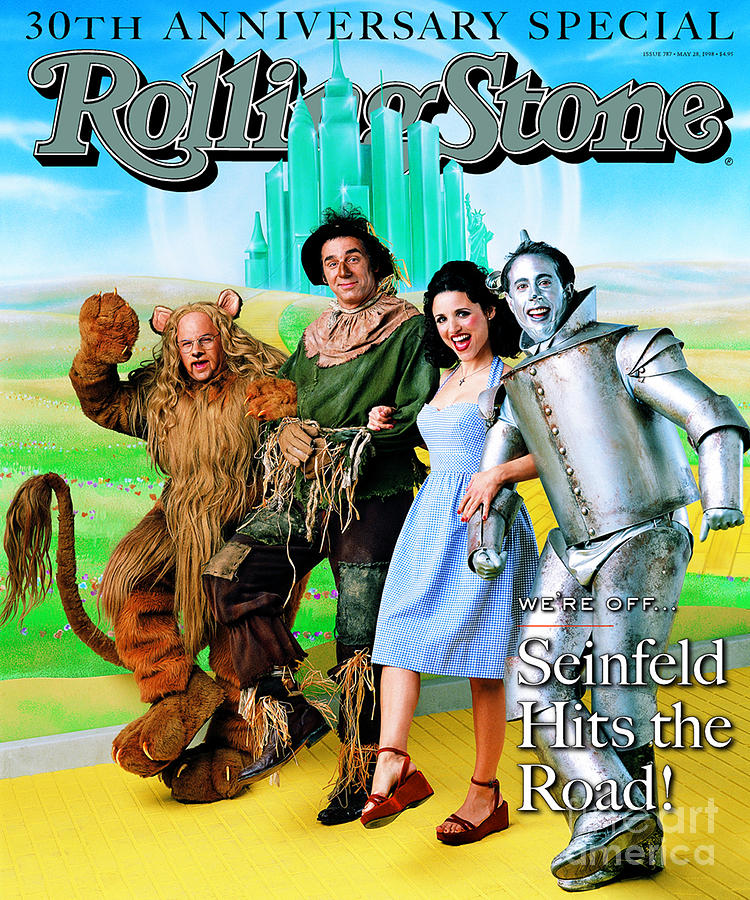Rolling Stone Photograph - Rolling Stone Cover - Volume #787 - 5/28/1998 - Cast Of Seinfeld by Mark Seliger