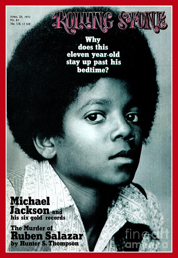 Michael Jackson Photograph - Rolling Stone Cover - Volume #81 - 4/29/1971 - Michael Jackson by Henry Diltz