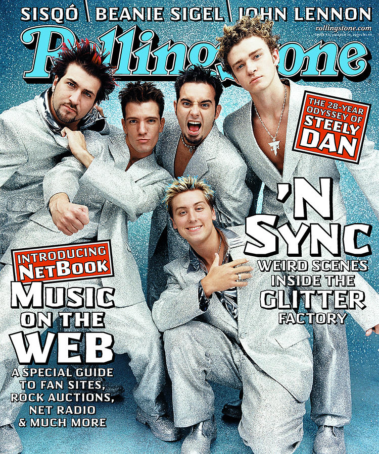 Rolling Stone Photograph - Rolling Stone Cover - Volume #837 - 3/30/2000 - n Sync by Stewart Shining