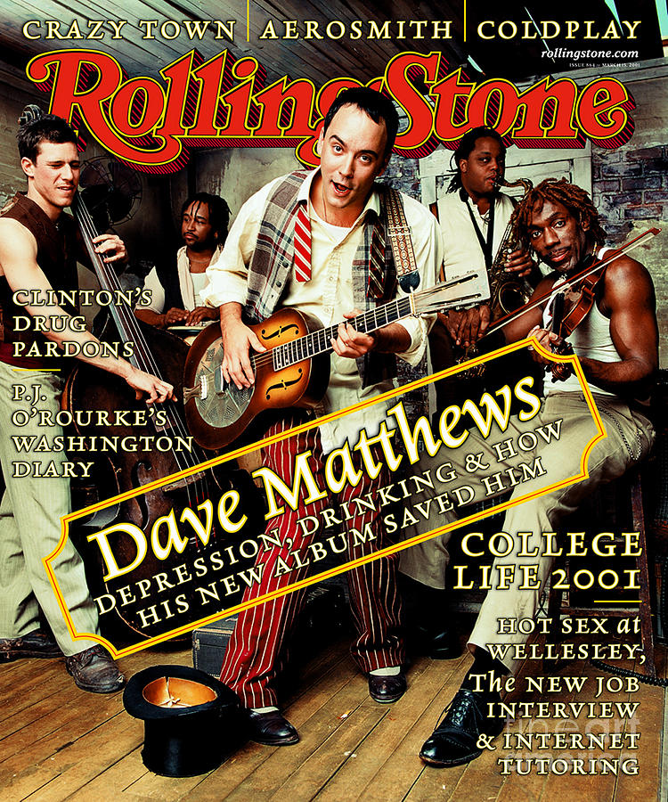 Dave Matthews Band Photograph - Rolling Stone Cover - Volume #864 - 3/15/2001 - Dave Matthews Band by Mark Seliger