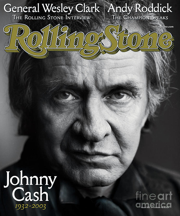 Johnny Cash Photograph - Rolling Stone Cover - Volume #933 - 10/16/2003 - Johnny Cash by Mark Seliger