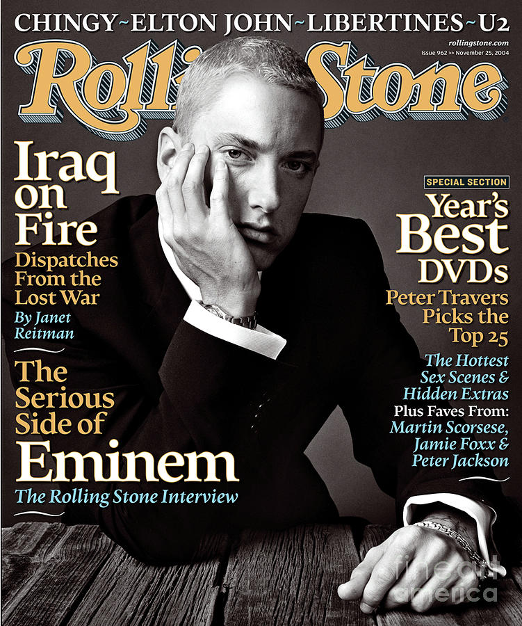 Eminem Photograph - Rolling Stone Cover - Volume #962 - 11/25/2004 - Eminem by Norman Jean Roy