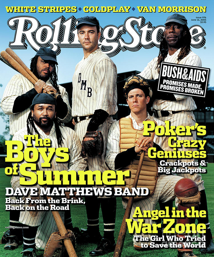 Dave Matthews Band Photograph - Rolling Stone Cover - Volume #976 - 6/16/2005 - Dave Matthews Band by Martin Schoeller