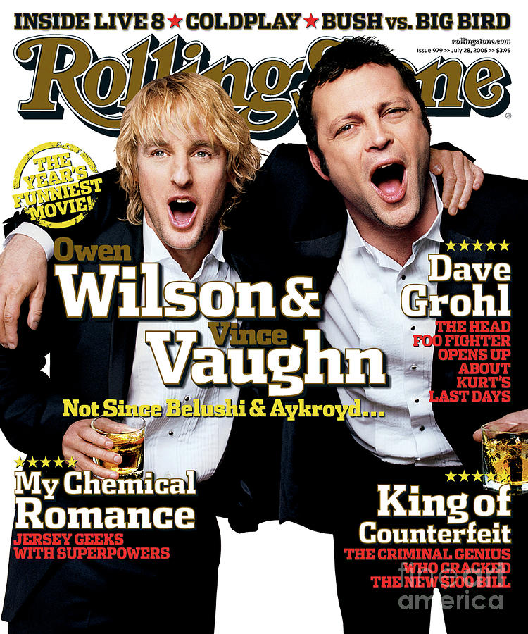Rolling Stone Photograph - Rolling Stone Cover - Volume #979 - 7/28/2005 - Owen Wilson And Vince Vaughn by Max Vadukul