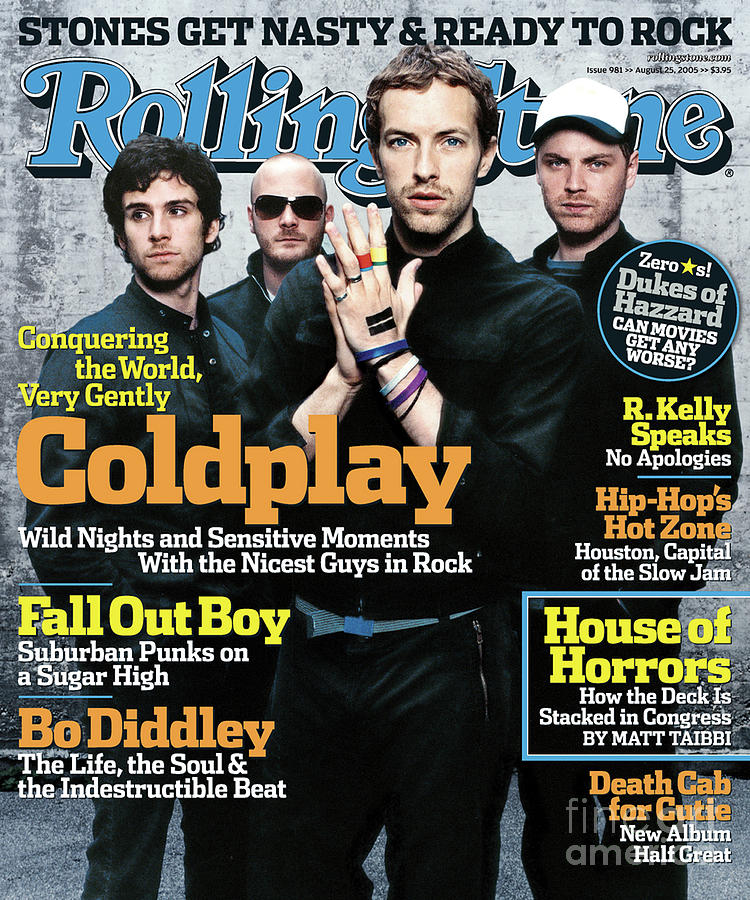 Coldplay Photograph - Rolling Stone Cover - Volume #981 - 8/25/2005 - Coldplay by Anton Corbijn