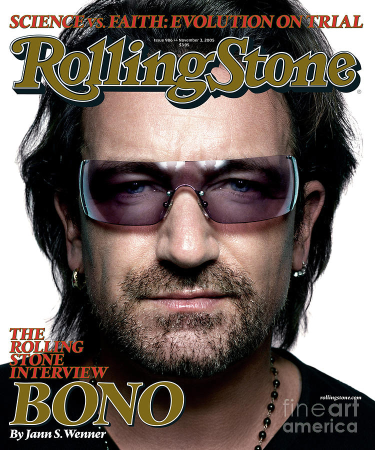 Bono Photograph - Rolling Stone Cover - Volume #986 - 11/3/2005 - Bono by Platon
