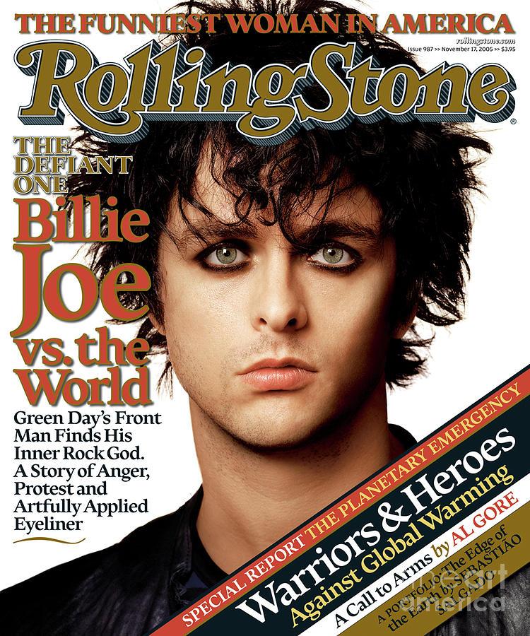 Billie Joe Armstrong Photograph - Rolling Stone Cover - Volume #987 - 11/17/2005 - Billie Joe Armstrong by Albert Watson