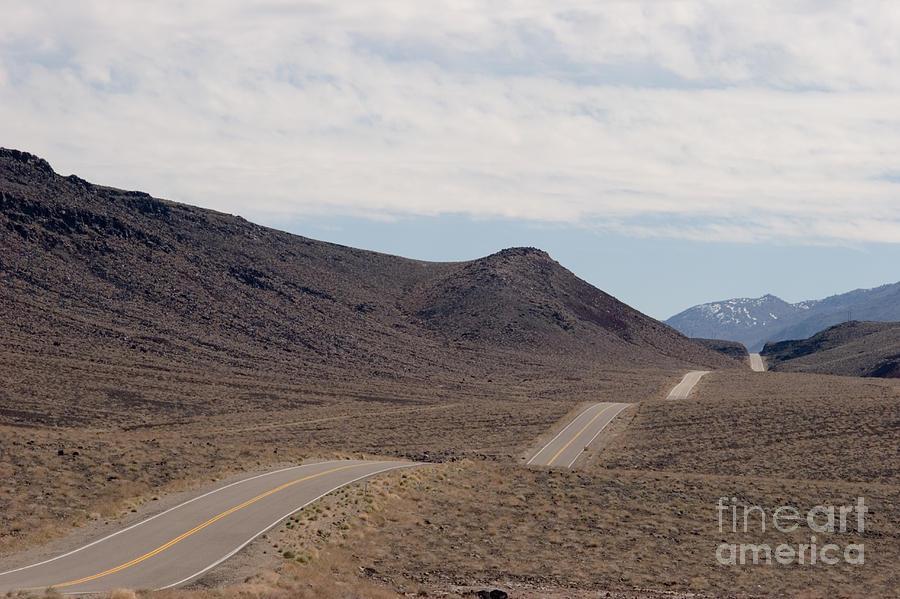 America Photograph - Rolling Two Lane Highway by Ei Katsumata