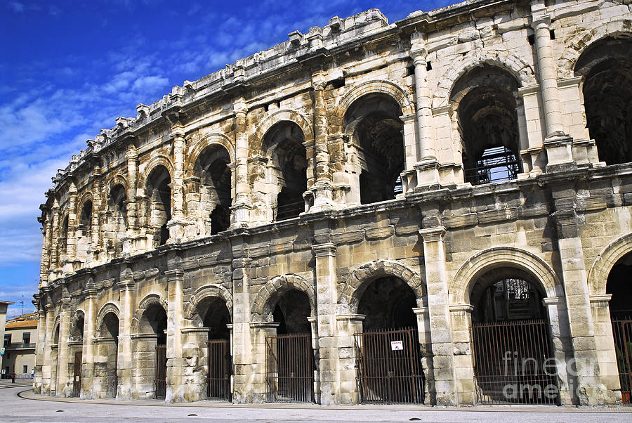 Nimes Photograph - Roman Arena In Nimes France by Elena Elisseeva
